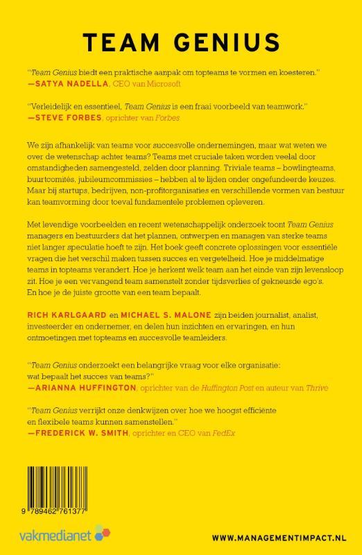 Rich Karlgaard, Michael S. Malone,Team Genius