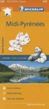 Midi-Pyrenees - Michelin Regional Map 525