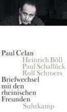 Celan, Paul Briefwechsel mit den rheinischen Freunden