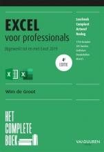 Wim de Groot , Het complete boek Excel voor professionals, 4e editie