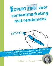 Esther van Vondel , Experttips voor contentmarketing met rendement