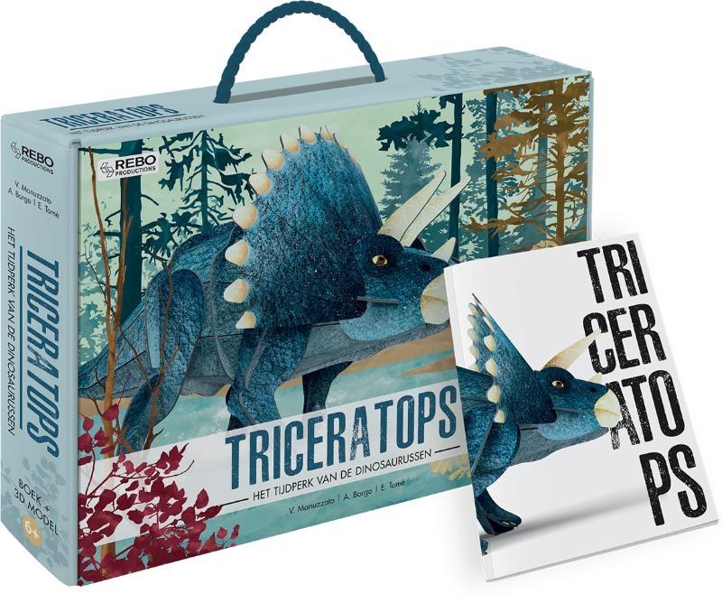 Ester Tomè,Triceratops - Boek + 3D-puzzel