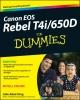 King, Julie Adair,Canon EOS Rebel T4i/650D For Dummies