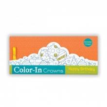 Happy Birthday Color-In Crowns