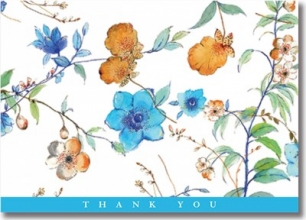 Asian Floral Thank You Notes (Stationery, Note Cards, Boxed Cards)