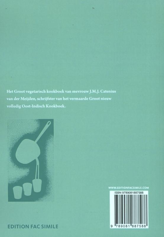 J.M.J. Catenius-van der Meijden,Groot vegetarisch kookboek