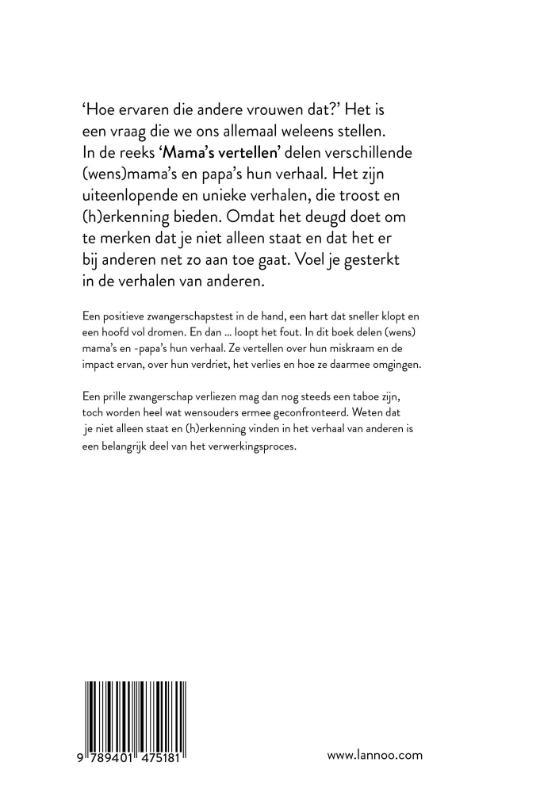 Lore De Vilder, Mama Baas,Mama`s vertellen - Als het misgaat tijdens je prille zwangerschap