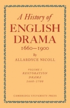 Nicoll, Allardyce History of English Drama, 1660-1900 7 Volume Paperback Set (in 9 Parts)