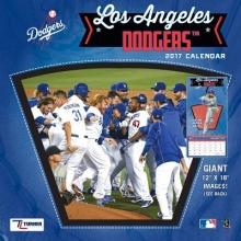 Cal 2017 Los Angeles Dodgers 2017 12x12 Team Wall Calendar