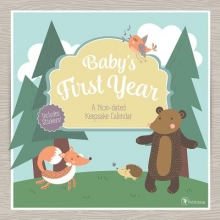 Baby`s First Year Woodland Non-Dated Keepsake Calendar