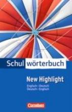 Cornelsen Schulwörterbuch New Highlight Englisch - Deutsch Deutsch - Englisch
