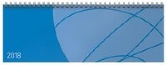 Tischquerkalender Professional Colourlux blau 2018