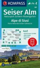 , Seiser Alm, Naturpark Schlern-Rosengarten, Alpe di Siusi 1:25 000