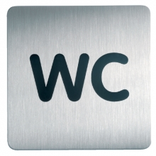 , Infobord pictogram Durable 4957 vierkant wc 150mm