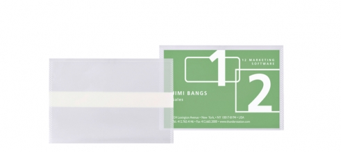 , Visitekaarttas 3L 95x60mm biologisch PLA transparant