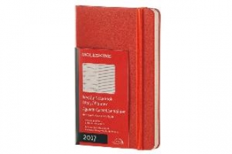 MOLESKINE 2017 MOLESKINE CORAL ORANGE POCKET WEEKL