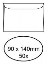 , Envelop Quantore voor visitekaartjes 90x140mm 95gr wit 50st.