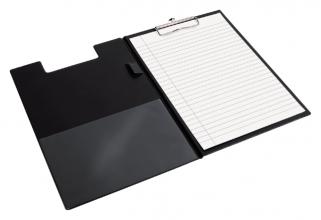 , Klembordmap Quantore A4 zwart met 100mm klem + penlus