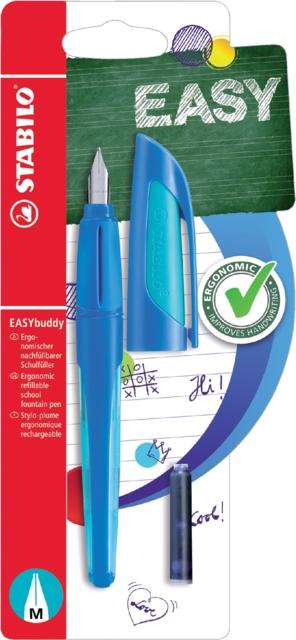 ,Vulpen STABILO Easybuddy rechtshandig donkerblauw/lichtblauw blister