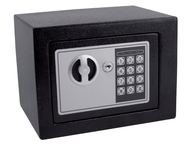 ,Kluis Pavo mini 230x170x170mm elektronisch zwart