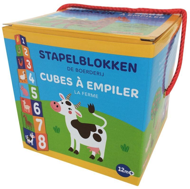 ZNU,Stapelblokken - De boerderij (+ 12 m) Cubes à empiler - La ferme (+ 12 m)