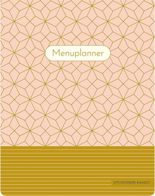 ZNU,Menuplanner - Pink Patterns