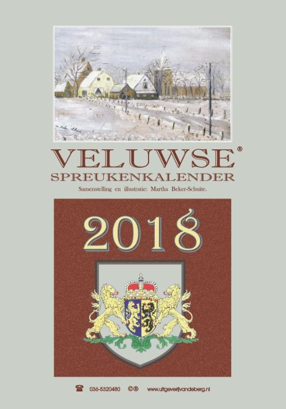 ,Veluwse spreukenkalender 2018