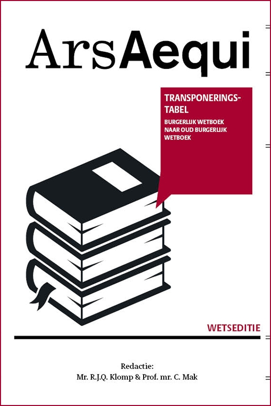 ,Transponeringstabel Burgerlijk wetboek naar Oud Burgerlijk wetboek