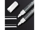 ,krijtmarker Sigel 1-5mm wit   afwasbaar, fluoriscerend set a 2 stuks wit