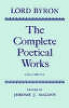 Lord George Gordon Byron The Complete Poetical Works: Volume 7
