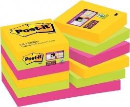 , Memoblok 3M Post-it 622 Super Sticky 47.6x47.6mm Rio
