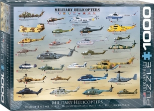 Eur-6000-0088 , Puzzel military helicopters eurographics - 1000 stuks