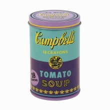Mudpuppy Andy Warhol Soup Can Crayons Purple