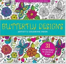 Butterfly Designs Artist`s Coloring Book (31 Stress-Relieving Designs)