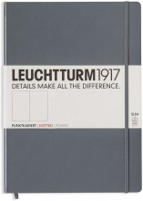 , Leuchtturm notitieboek master slim a4 points bullets antraciet