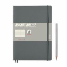 Lt355313 , Leuchtturm notitieboek composition softcover 178x254 mm lijn grijs