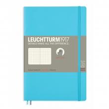 Lt358312 , Leuchtturm notitieboek softcover 19x12.5 cm bullets/dots/puntjes ice blue