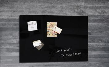 , glasmagneetbord Sigel Artverum 600x400x15mm zwart