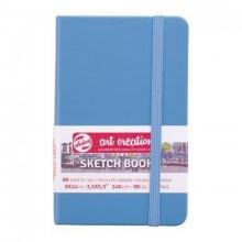 9314211m , Talens art creation schetsboek 9x14cm 140grams 80 vel lake blue