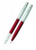 <b>E5930753-30</b>,S5 sheaffer 100 vulpen en balpen set staal/rood