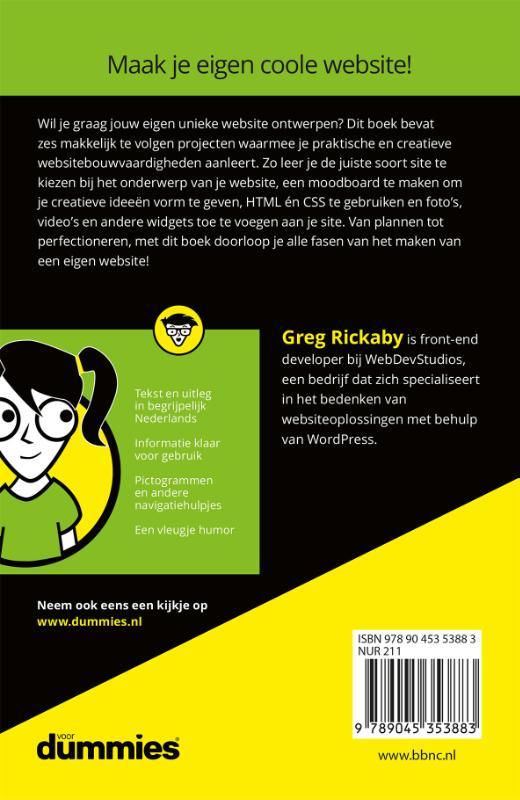 Greg Rickaby,Een website maken voor kids voor Dummies