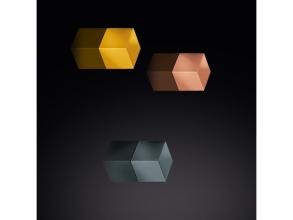 , magneet voor glasbord Sigel 10x10x10mm assorti mix pack     sterk 3 stuks