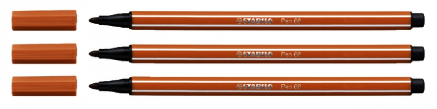 , Viltstift STABILO Pen 68/89 donker oker