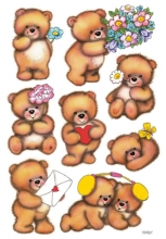 , Etiket Herma beren met bloemen
