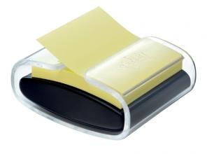 , Memoblokdispenser 3M Pro tbv Post-it Z-Notes 76x76mm transparant zwart