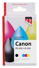 , Inktcartridge Quantore Canon PG-510 CL-511 zwart +  kleur