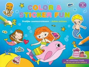, Color & Sticker Fun – Vrolijke zeemeerminnen Color & Sticker Fun – Jolies sirènes