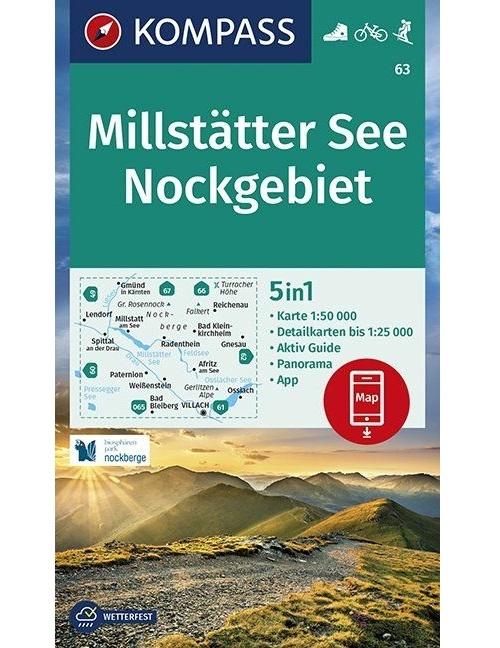 Kompass-Karten Gmbh,Millstätter See, Nockgebiet 1:50 000