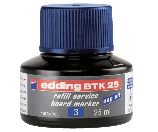 ,Viltstiftinkt edding BTK25 voor whiteboard blauw