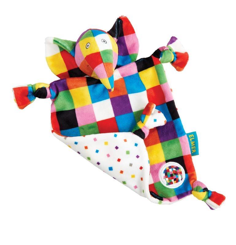 ,Elmer Comfort Blanket/Knuffeldoekje
